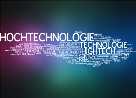 sectors: Word cloud - high tech Stock Photo