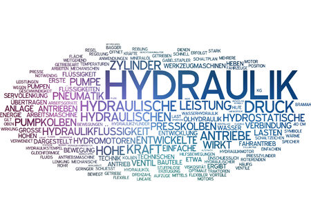 provision: Word cloud - hydraulic systems