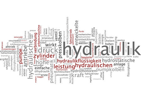 hydraulic: Word cloud - hydraulic systems
