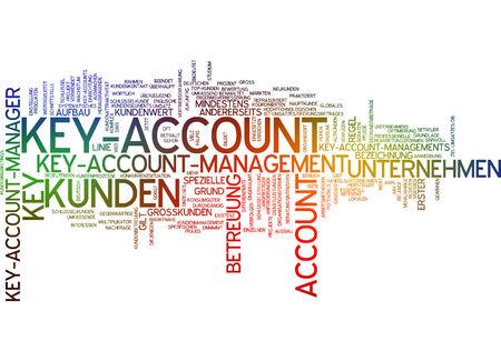 Word cloud - key account Standard-Bild