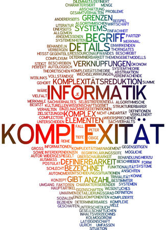 Word cloud - complexity