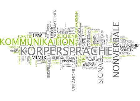 German Word Krpersprache Body Language