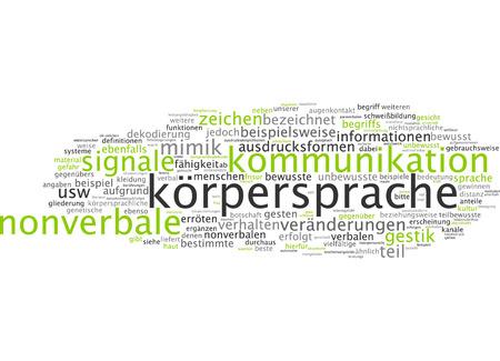 nonverbal: German Word Krpersprache Body Language