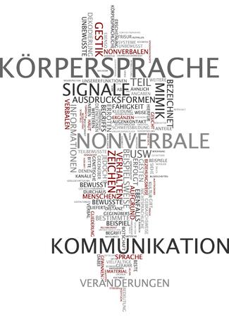 'body language': Krpersprache Body Language Stock Photo