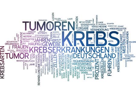 krebs: Word cloud - cancer