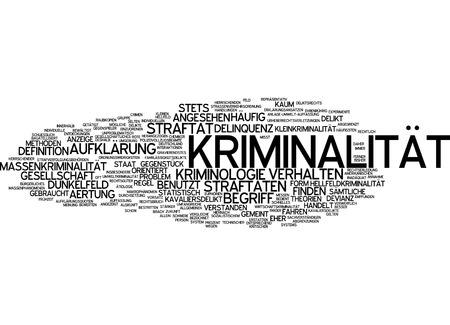 behaviour: Word cloud - crime