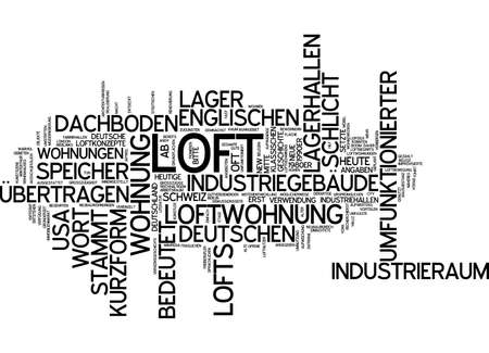 loft: Word cloud - loft Stock Photo