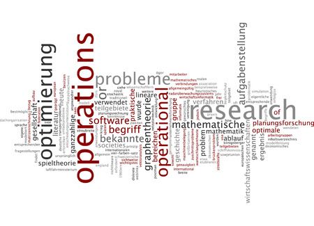 Word cloud - operations research Stock Photo