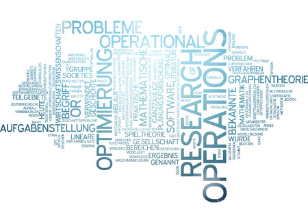 economic theory: Word cloud - operations research Stock Photo