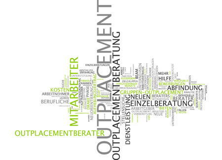 co work: Word cloud - outplacement