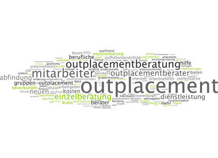 coworker: Word cloud - outplacement