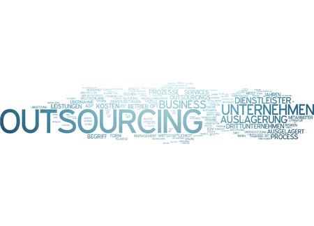 enterprising: Word Cloud - Outsourcing Stock Photo