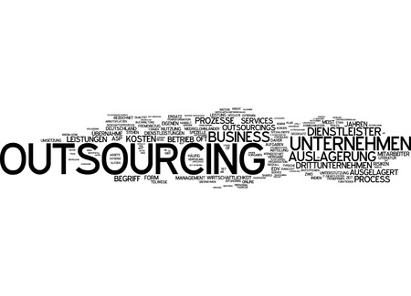 operate: Word Cloud - Outsourcing Stock Photo