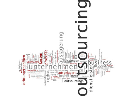 provider: Word Cloud - Outsourcing Stock Photo
