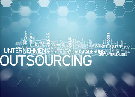 Word Cloud - Outsourcing Stock Photo