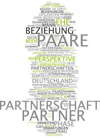 life partner: Word cloud - relationships Stock Photo