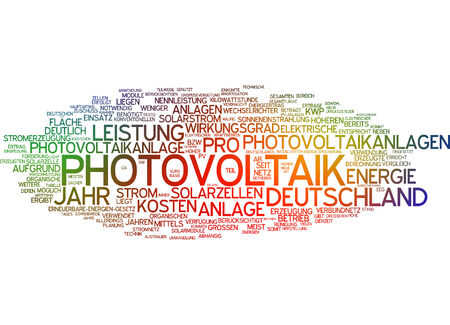 converting: Word cloud - photovoltaics