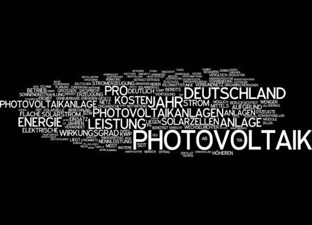 radiacion solar: Nube de palabras - la energ�a fotovoltaica