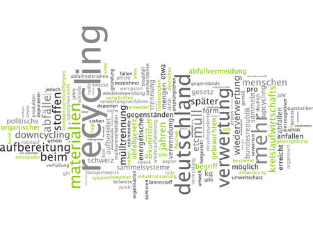 utilization: Word cloud - recycling Stock Photo