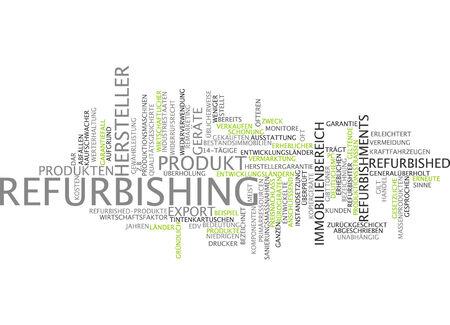 primary product: Word cloud - refurbishing