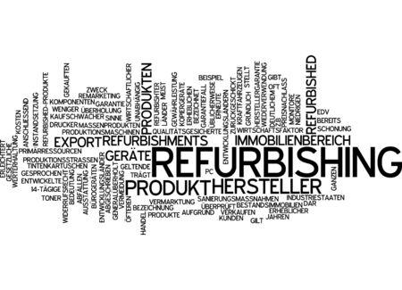 refurbishing: Word cloud - refurbishing