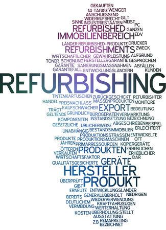 refurbishing: Word cloud - ristrutturazione Archivio Fotografico