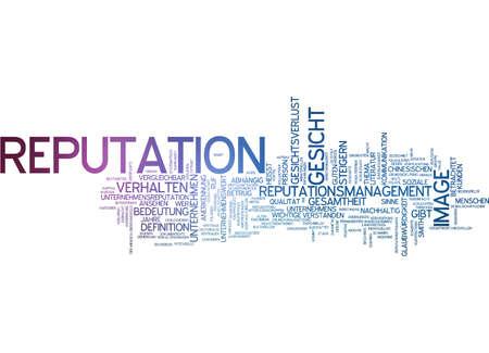 reputation: Word cloud - reputation