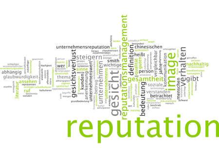 costumer: Word cloud - reputation
