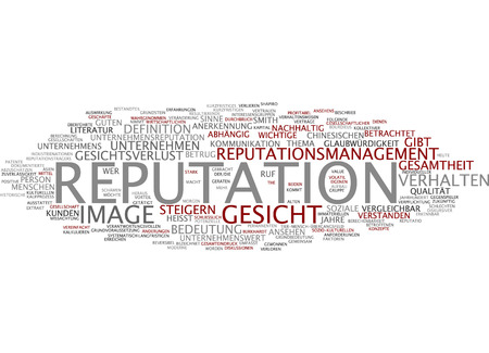 reputation: Word cloud - reputation