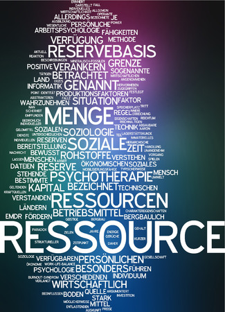 raw material: Word cloud - resource