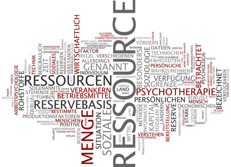 sociology: Word cloud of respect in German language Stock Photo