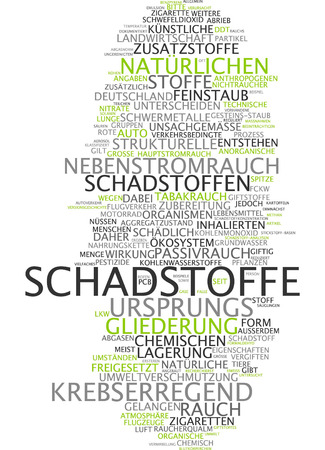 addictive: Word cloud - pollutant Stock Photo