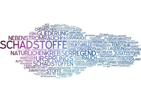 damaging: Word cloud - pollutant Stock Photo