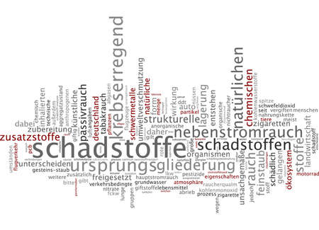 Word cloud - pollutant Stock Photo