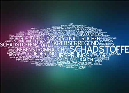 pollutant: Word cloud - pollutant Stock Photo