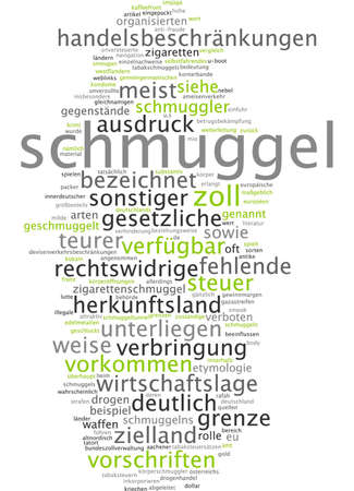 smuggling: Word cloud - smuggling Stock Photo