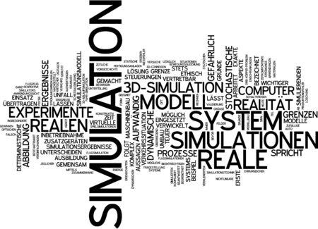 simulation: Word cloud of simulation in German language
