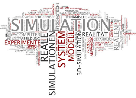 simulation: Word cloud of simulation in German language