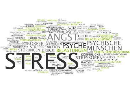 social emotional: Word cloud - stress