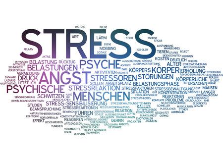 stressed people: Word cloud - stress
