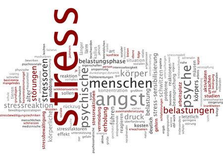 psyche: Word cloud - stress