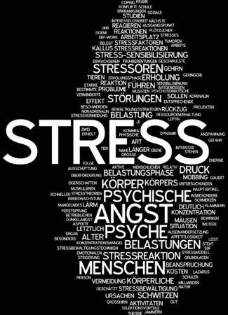 Word cloud - stress photo
