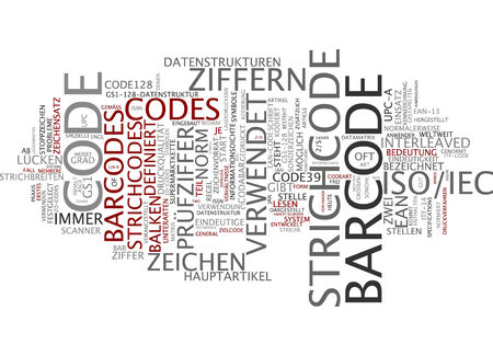 Word cloud - barcode photo