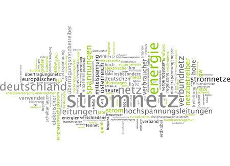 transmit: Word cloud - power supply Stock Photo