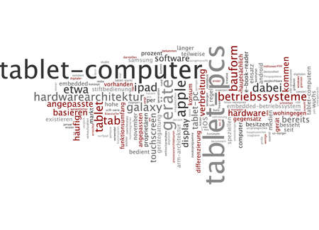 Word Cloud - Tablet photo