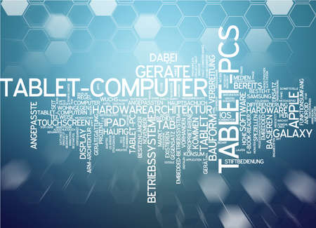 Word Cloud - Tablet Stock Photo