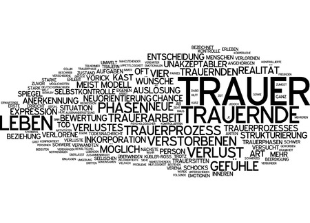self control: Word cloud - mourning