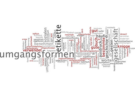 Word cloud - manners