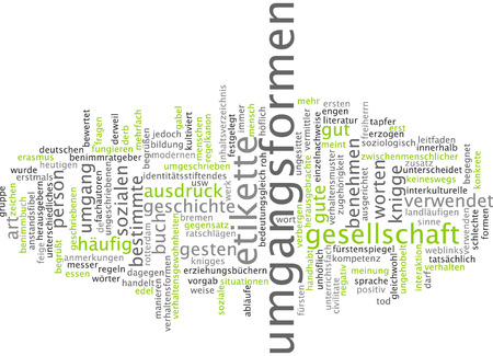 norms: Word cloud - manners