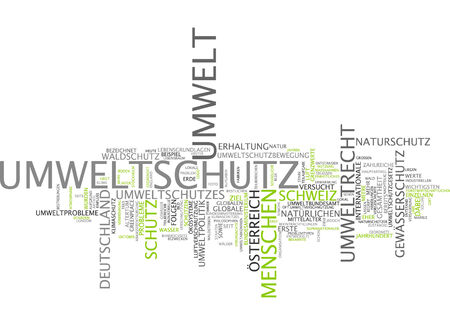 environmental policy: Word cloud - environmental protection Stock Photo